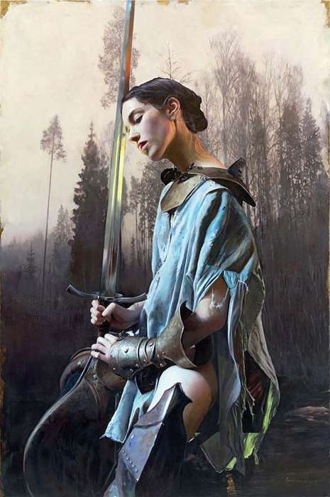 Women Warrior Paintings - Martin Eder Creates an Atmospheric Series Surrounding Strong Females