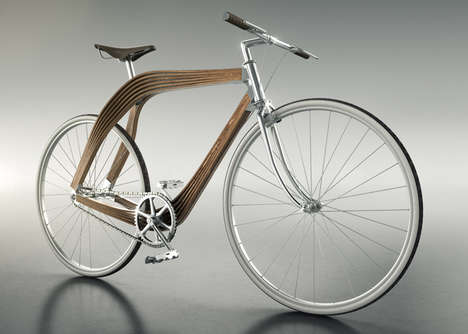Architectural Wooden Bikes - This Prototype Bicycle is Designed to Test Structural Ability