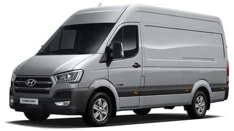 Lightweight Commercial Vans - The Hyundai H350 Aims to Infiltrate the Commercial Vehicle Market