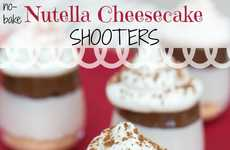 No-Bake Cheesecake Shooters - The No-Bake Nutella Cheesecake Shooters Require Minimal Preperation