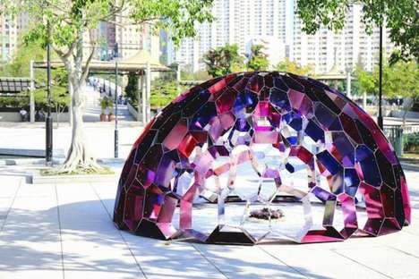 Kaleidoscopic Dome Sculptures - Hong Kong's Latest Public Art Project Creates a Sensory Experience