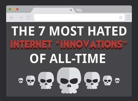 Irritating Internet Inventions Infographics - This Chart Lists Annoying Innovations Online