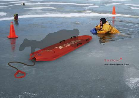 Ice Rescue Gear - The Saviour Board Enables a Single Rescuer to Safely Pull a Man Ashore