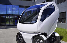 Ambi-Directional Autos - This Eco Micro Car Can Drive Sideways to Slip Through City Traffic