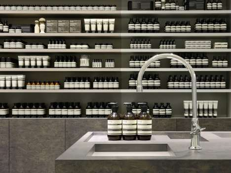 14 Inspiring Aesop Boutiques - From Spa-Inspired Retail Concepts to Minimalist Morgue-Like Interiors