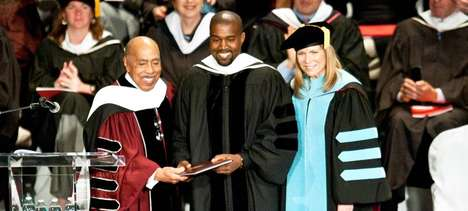 Self-Deprecating Honors - The Kanye West Speech Discusses How His Honorary Degree Will Help