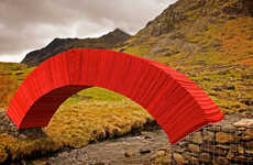 The 'Paperbridge' is a Self-Supporting Arch Made from 20,000 Individual Sheets