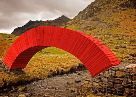 Bold Paper Bridges - The 'Paperbridge' is a Self-Supporting Arch Made from 20,000 Individual Sheets
