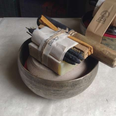 Meditative Offering Kits - This Singing Bowl Set is Designed for Home Contemplation Practice