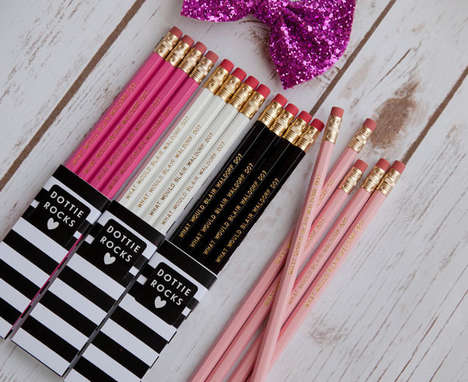 Queen B Pencil Sets - The Four Set of Blair Waldorf Pencils are for the Biggest Gossip Girl Gans