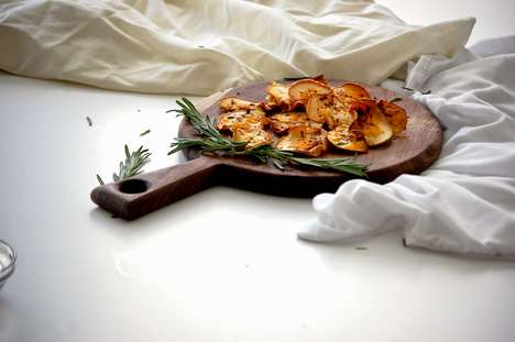 Savory Apple Chips - The Whisking Kitchen Transforms a Sweet Snack with Cheddar and Rosemary