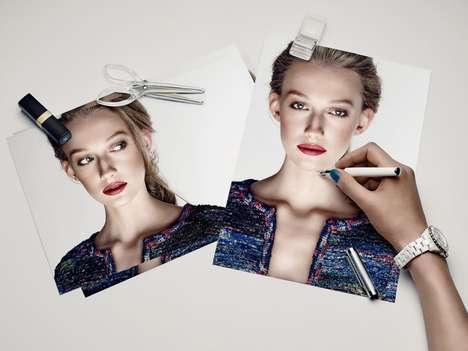 Pinboard Fashion Editorials - Monitor Magazine's Chanel Beauty Shoot Features Weronika Lesnik
