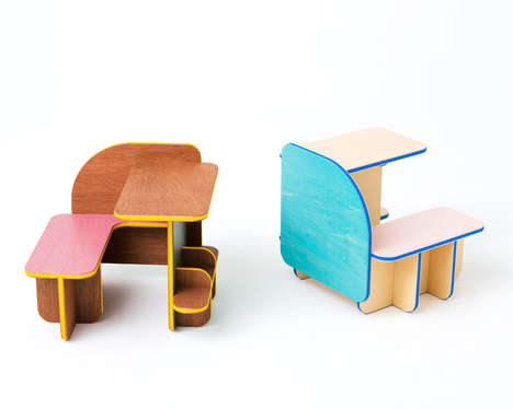 30 Examples of Modular Kid Furniture - From Collapsible Dollhouse Chairs to Stackable Storage Stools