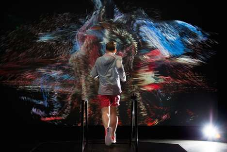 Sensory Running Workouts - Nike's Force of Nature Creates an Epic Experience Around the Treadmill