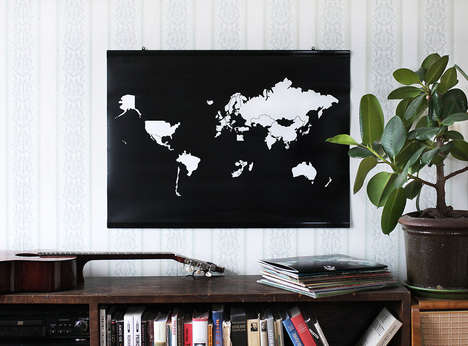 Minimalist Travel Maps - The 'Go! World' Personal Maps Help You Document Your Adventures in Style
