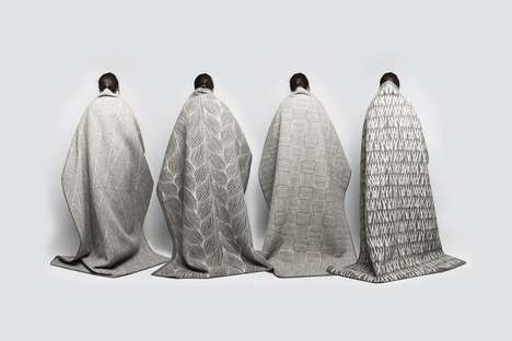 Minimal Decorative Blankets - Kristine Five Melvaer's Naturpledd Blankets are Full of Natural Beauty