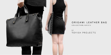 Leather Origami Bags - These Durable Handbags are Made Without Stitching and Use the Art of Origami