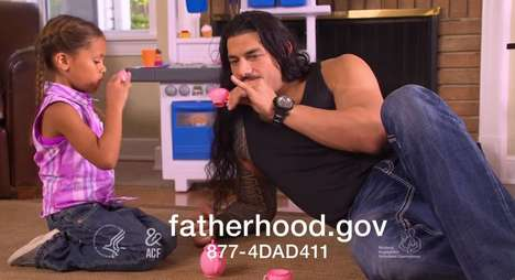 Wrestling Dad Ads - This Ad Features WWE Star Roman Reigns Encouraging Fatherhood Involvement