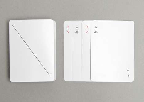 Minimalist Playing Cards - Joe Doucet's Game Card Set Draws Inspiration From Understated Art