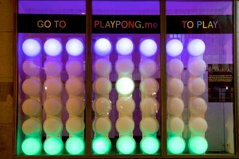 Gaming Retail Windows - The Play Array Project Turns a Retail Storefronts into a Pop-Up Game