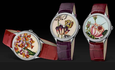Floral Watch Collections - These Vacheron Constantin Métiers d'Art Florilège Watches Embody Opulence