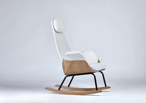 Reinvented Rocking Chairs - Alegre Design Creates a Chic and Comfortable Seat for New Parents