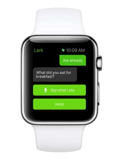 Personal Nutritionist Apps - Lark for the Apple Watch Provides Tools for Food Tracking