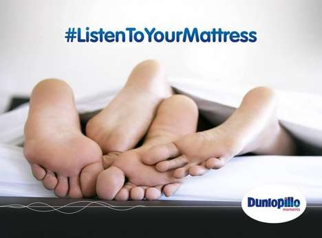 Love-Coaching Mattresses - Dunlopillo Wants You to Listen to Its Mattress to Improve Relationships
