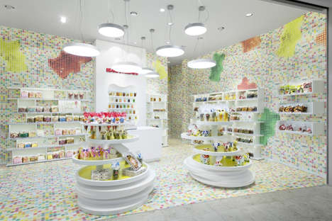 Pixelated Candy Shop Interiors - This Candy Shop Design Boasts a Visually Stimulating Decor