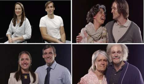 Future-Predicting Makeovers - 100 Years of Beauty: Aging Shows What Engaged Couple Will Look Older