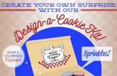 Cookie Customization Kits - Three Brothers Bakery's Design-A-Cookie Set Helps with Personalization