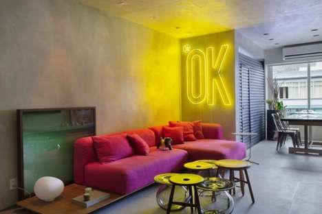 Urban Pop Art Residences - This Rio Apartment by Studio RO+CA References Pop Culture Themes