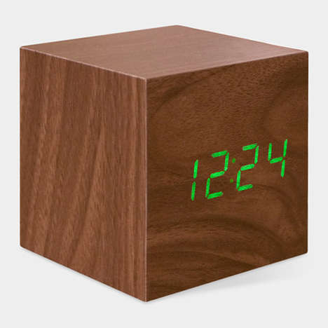 Wooden Cube Clocks - Natalie Sun's Cube Clock Features a Deceiving Design