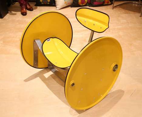 Upcycled Oil Barrel Furniture - Designer Phil Davidson Creates Amazingly Bright Home Furnishings