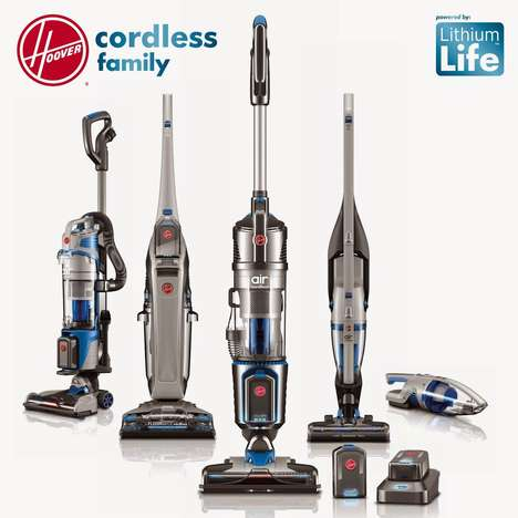Interchangeable Vacuum Batteries - Hoover Vacuums' Cordless Family Shares a LithiumLife Battery
