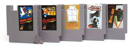 Retro Game Cartridge Flasks - The Nintendo Flasks Combine Childhood Games with Adult Beverages