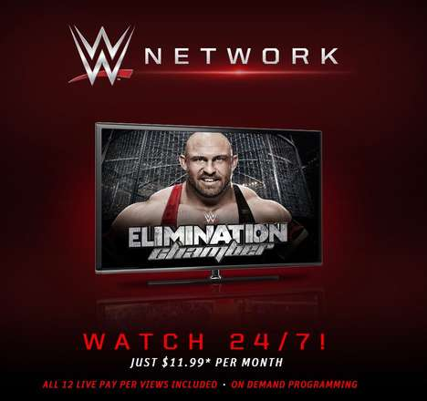 Pro Wrestling Streaming Subscriptions - The WWE Network is an OTT Service for Fanatics