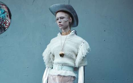 Fiercely Futuristic Photoshoots - The i-D Magazine Maria Veranen Editorial Provides a Look Ahead
