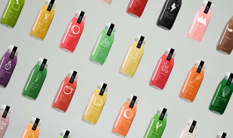 Whimsical Juice Packaging - This Cold-Pressed Juice Branding is Lighthearted and Artisanal
