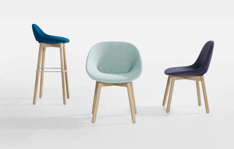 Interchangeable Furnishing Collections - The Beso Chair Program Pieces Can Be Updated with Fabrics