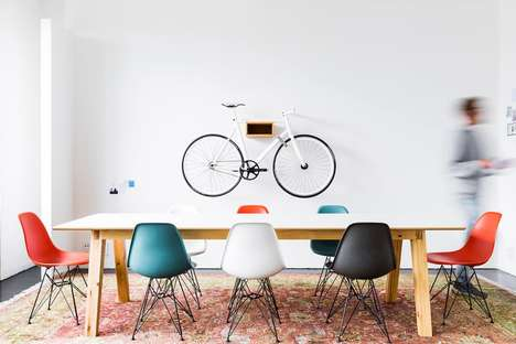 Bicycle Seat Shelving - This Beautiful Design Turns Bike Seats Into Wall-Mounted Storage