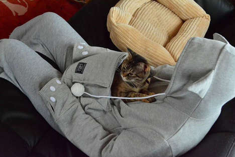 Animal Pouch Apparel - The 'Mewgaroo' Pet Hoodie Has a Kangaroo Pouch for Transporting Your Pet
