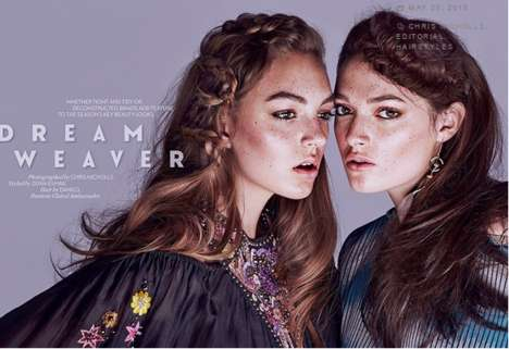 Braided Beauty Editorials - FASHION Magazine's Dream Weaver Photoshoot Stars Kristen and Breanna