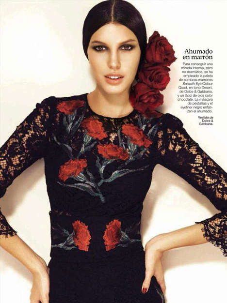 Cultural Couture Editorials - Glamour Spain's Latest Exclusive Boasts Flamenco Dancer Fashions