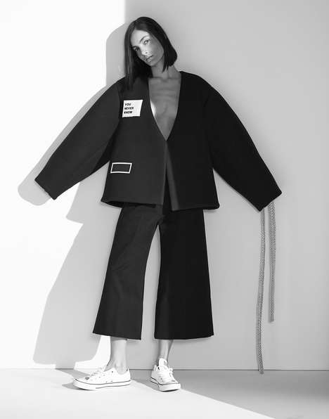 Statement Outerwear Editorials - The Neue Journal Manolo Campion Photoshoot Exhibits Bold Apparel