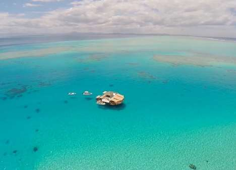Floating Fiji Bars - The Cloud 9 Bar Offers an Incredible Escape Surrounded by Turquoise Waters