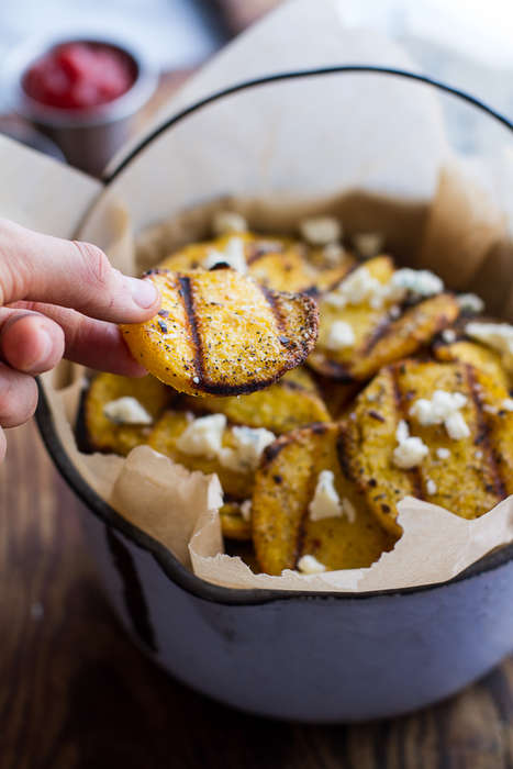 Grilled Polenta Chips - Half Baked Harvest's Polenta Recipe Makes Crispy Rounds
