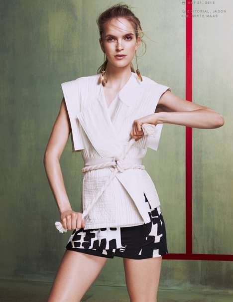 Subtle Karate Fashion - Mirte Maas Channels Her Inner Martial Artist in Self Magazine's Latest Issue
