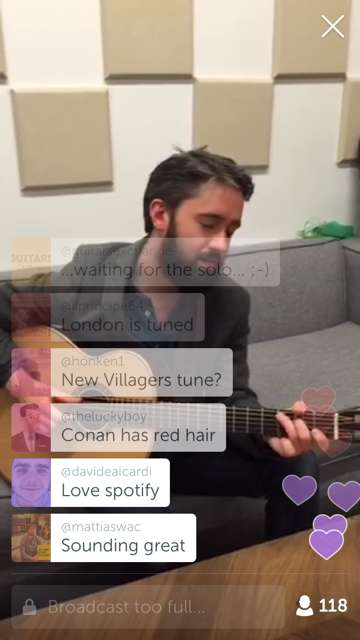 Intimate Musician Videos - Spotify's Entertainment Marketing on Periscope Connects Fans & Music