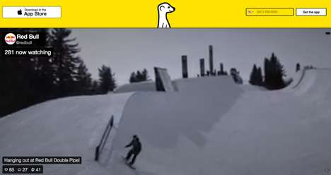 Live Snowboarding Videos - Red Bull Uses Meerkat for Live Video Marketing of Its Double Pipe Finals